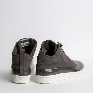 NFN Gourmet Shoes - Gourmet Asymmetrical 2-tone Patent/Suede Sneakers